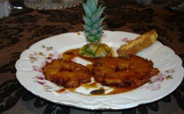 ananas rôti caramelie rhum
